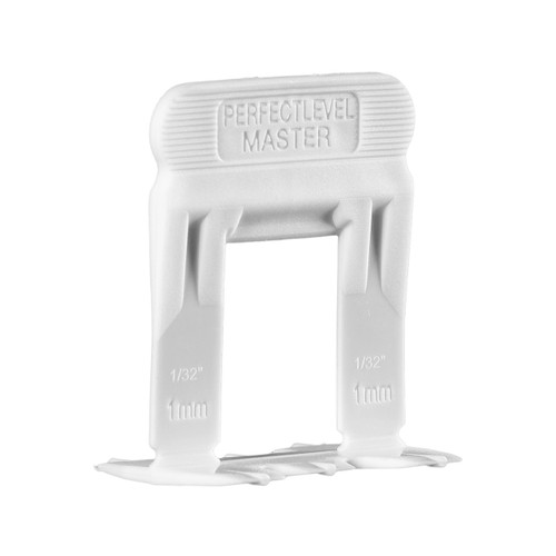Perfect Level Master - 1mm LARGE Clip For Tile Thickness 12-23 mm - Bag 100