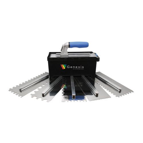 Genesis - Quick Switch Ceramic Trowel Set with 6 Blades - 965SET