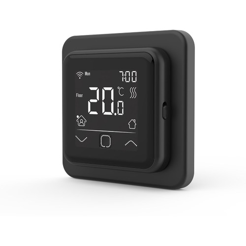 Lava WiFi Enabled SMART Thermostatic Underfloor Heating Controller - BLACK