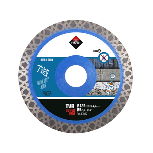 Rubi Hard Material TURBO VIPER Diamond Blade (TVR) - 125mm - 30987