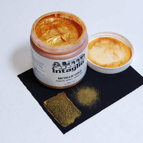 Metallic Gold Akua Intaglio IIMG