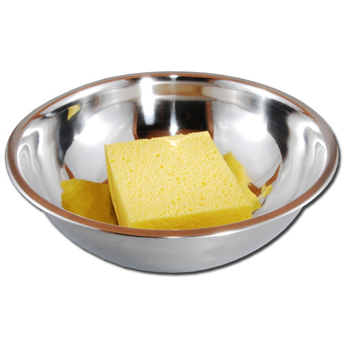 3 qt. stainless steel bowl.