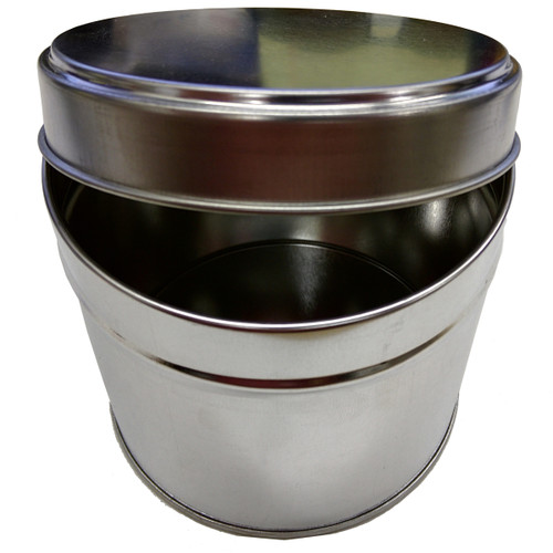 Empty 1 Lb Metal Can with Slip Top