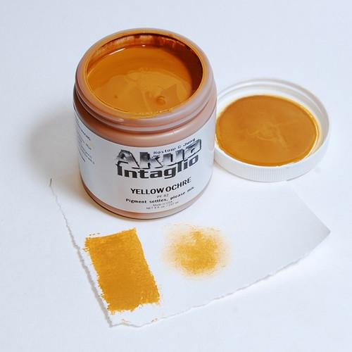 Yellow Ochre Akua Intaglio IIYO