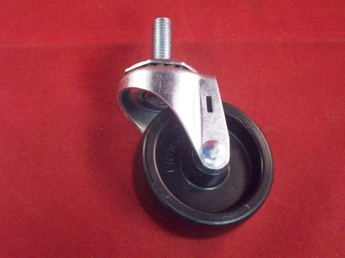 "CASTER, 3"" SWIVEL MOUNT"