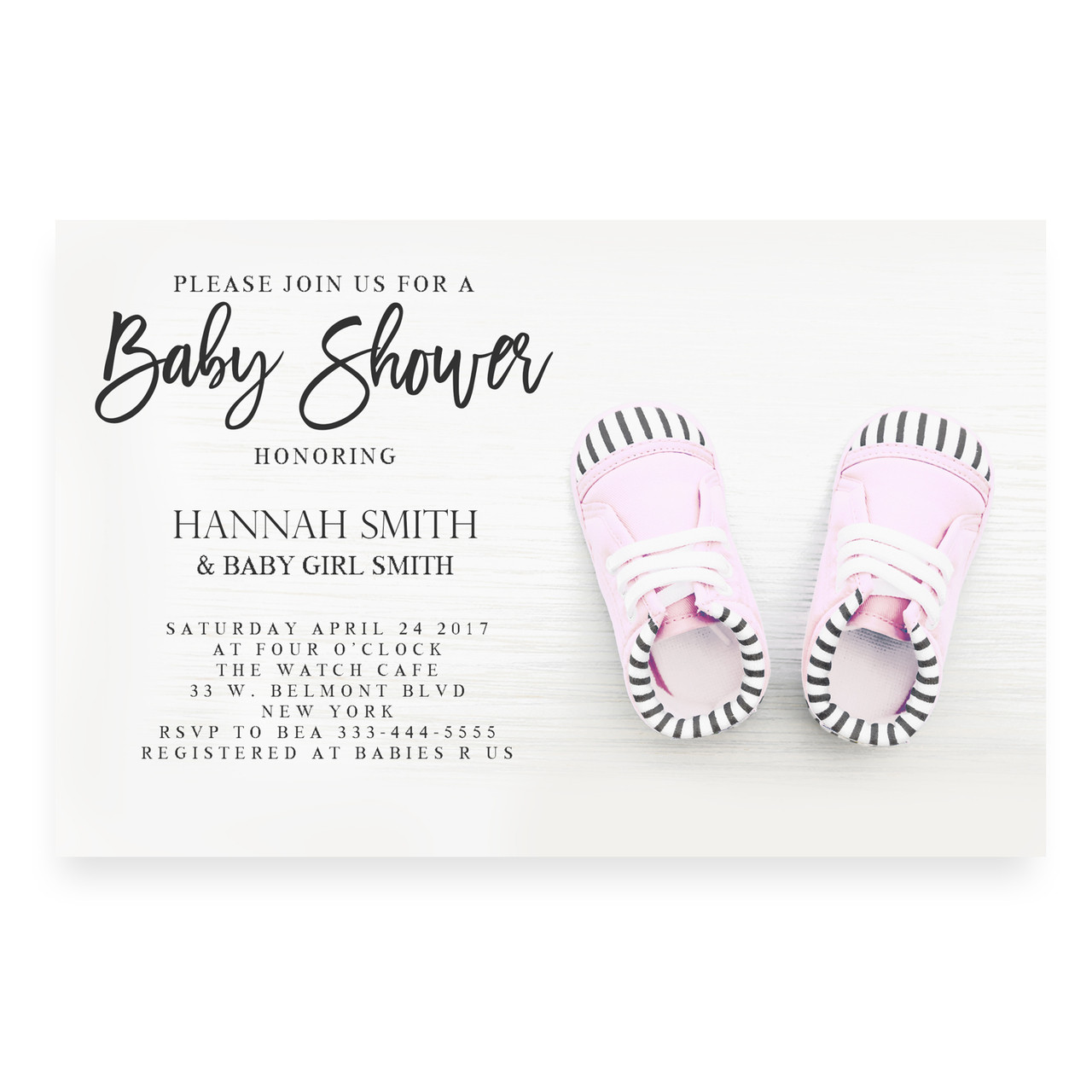 Girl Baby Shower Invitation Pink Baby Shower Invite