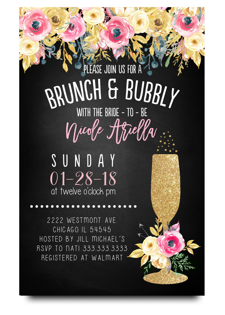 floral brunch and bubblychalkboard flowers glitter champagne glass brunch and flowers