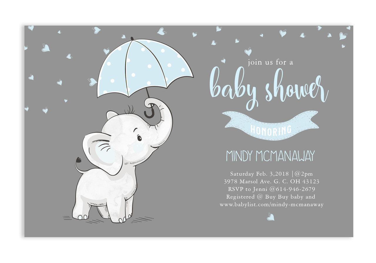 Pink Elephant Baby Shower Invitation Pink Elephant 32