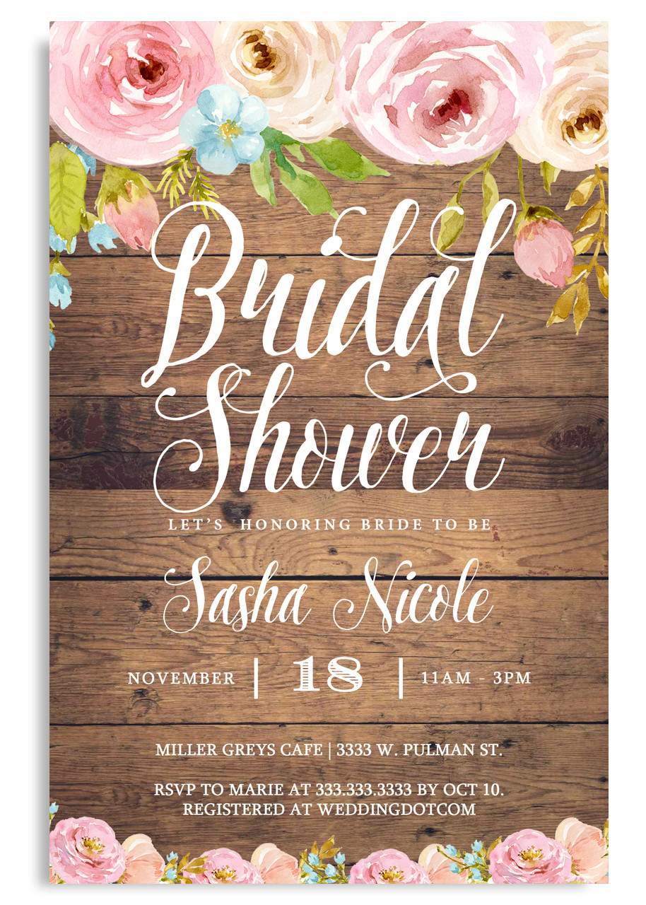 ec8ed75874d Rustic Bridal shower invitation Country bridal shower invite  3