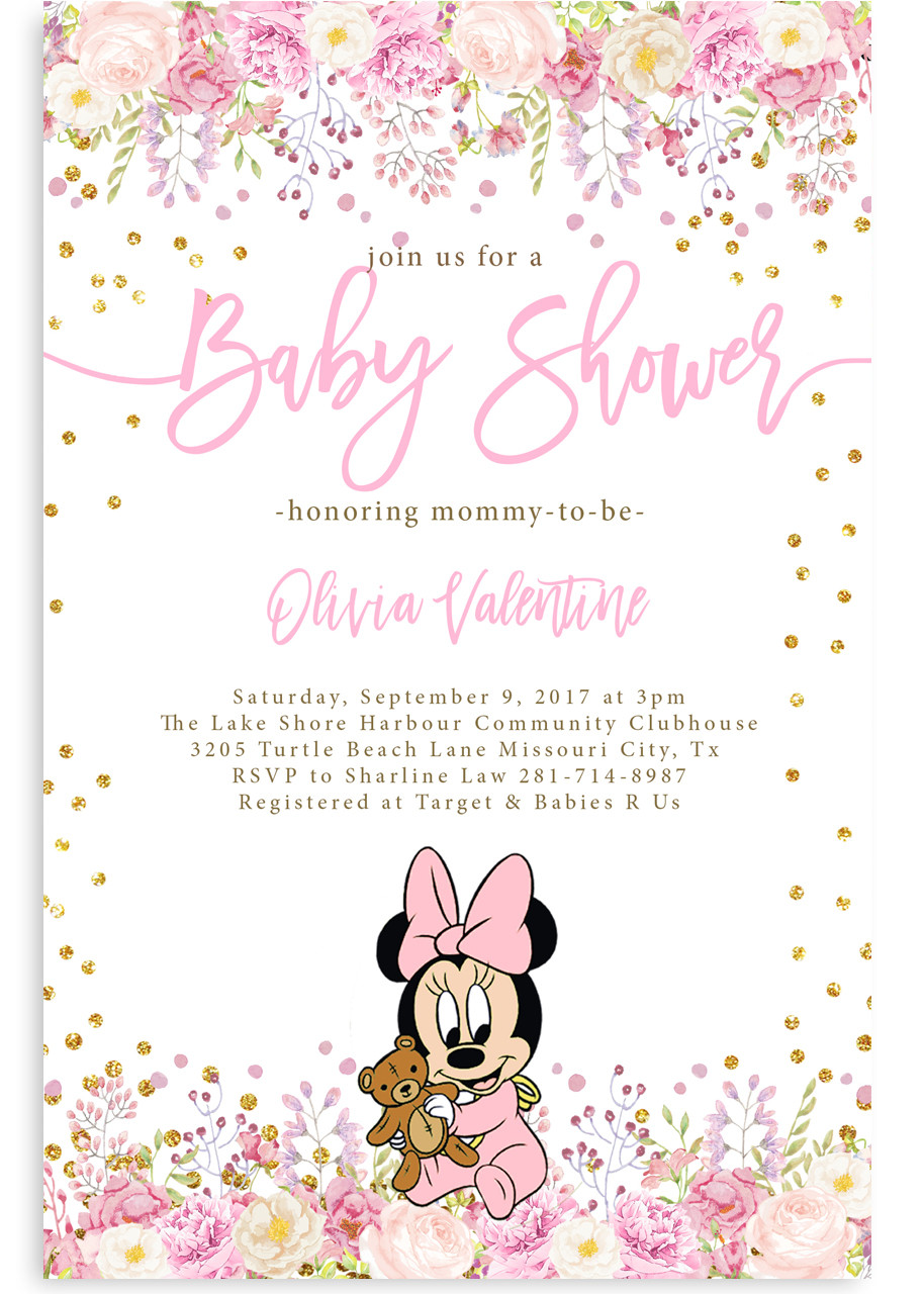 Minnie Mouse Baby Shower Invitation 2