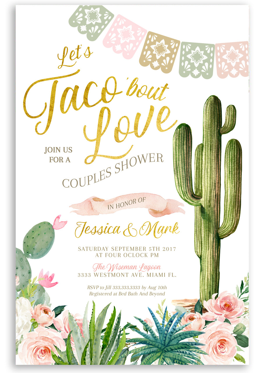 Fiesta Couples Shower Invitation Taco Couples Shower 1