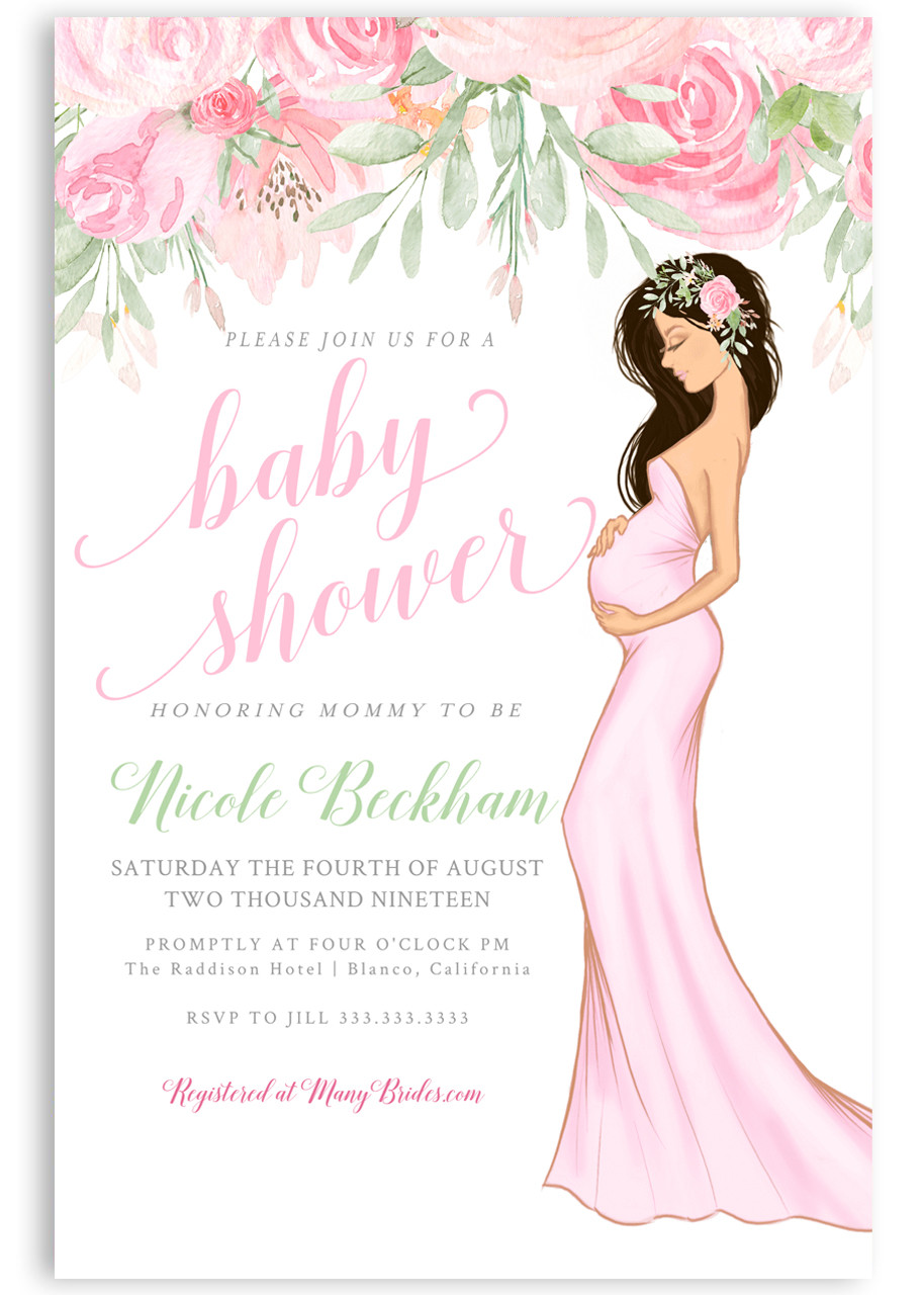 Pink Baby Shower Invitation Girl Baby Shower Invitation 1