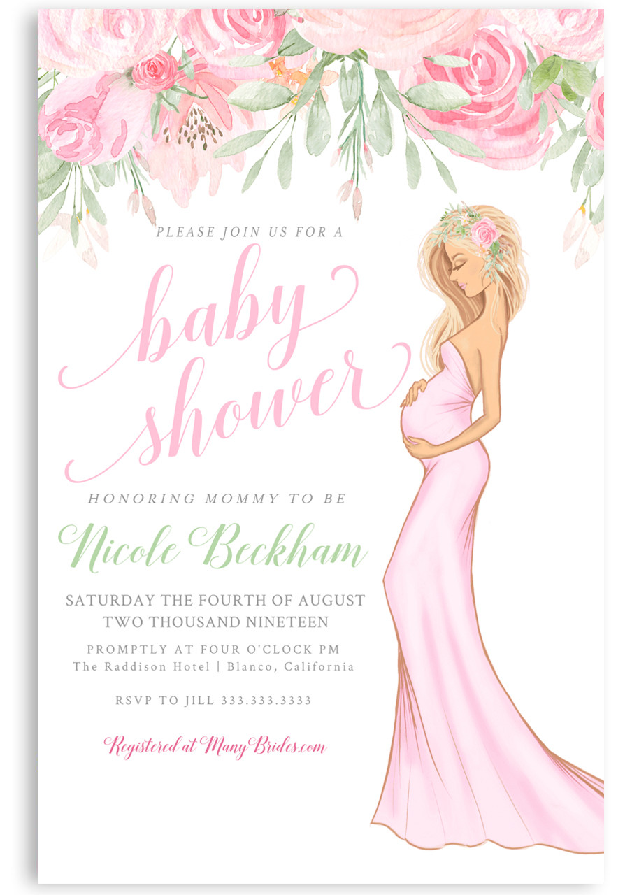 Pink Baby Shower Invitation Girl Baby Shower Invitation 2