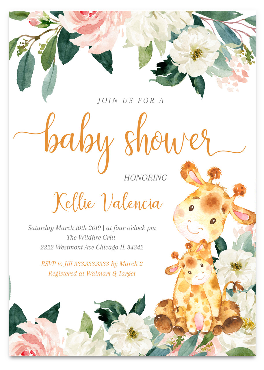 jungle baby shower invitation  zoo baby shower  safari
