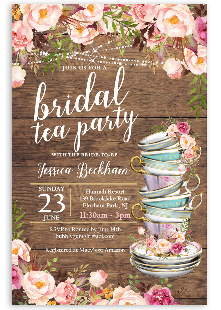 Tea Party Bridal Shower Invitation 4