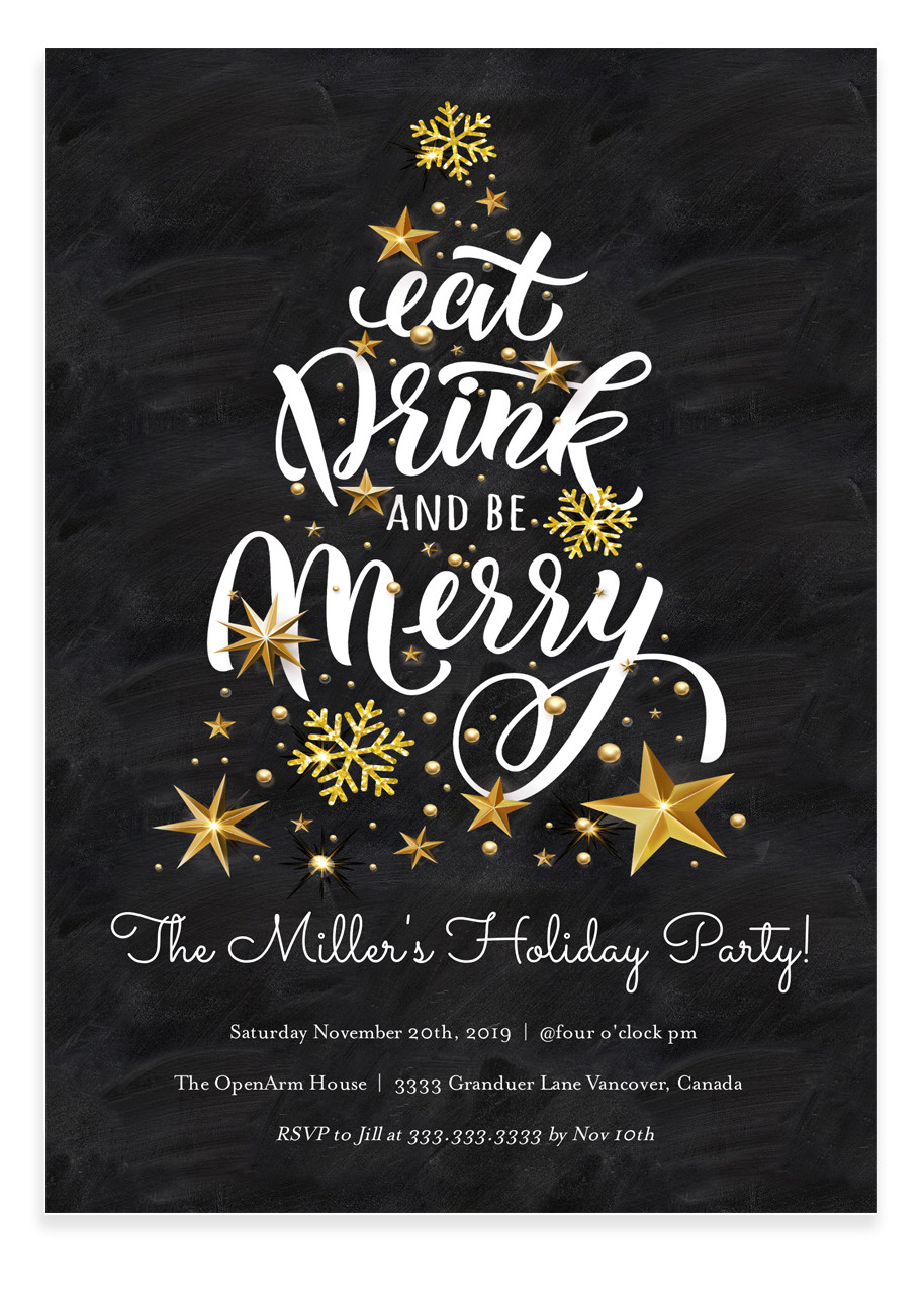 Christmas party invitation, Merry little christmas party #1