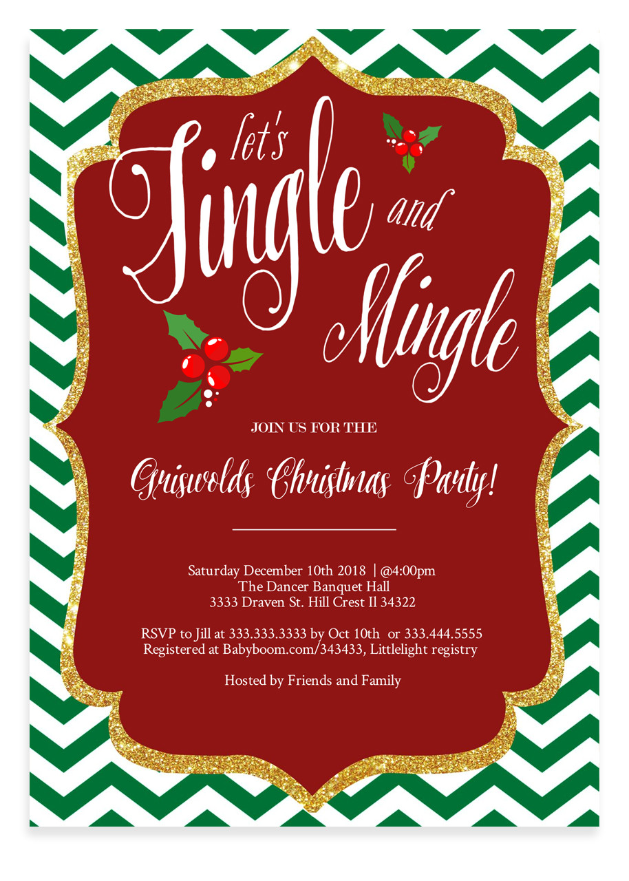 Jingle and mingle Christmas party invitation 5