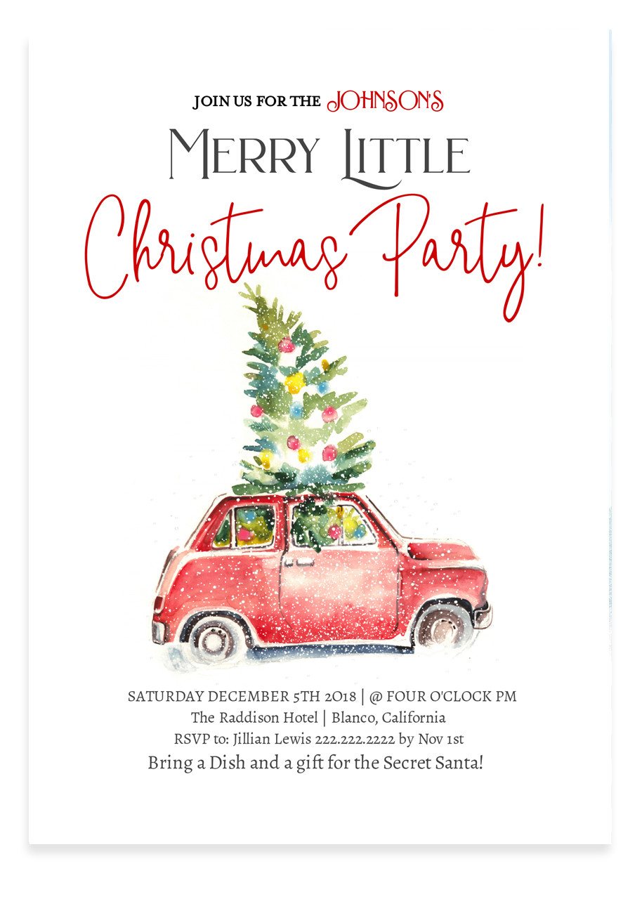 Christmas Invitation.Christmas Party Invitation Merry Little Christmas Party 4