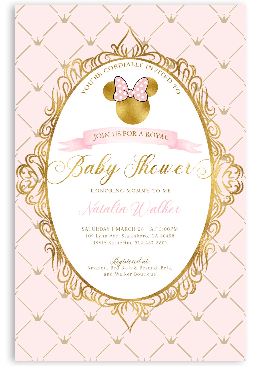 Minnie mouse baby shower invitation #5