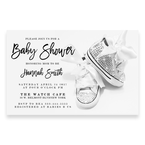 Glitter shoes baby shower invitation, rhinestone baby shoes, swarovski crystals, glitter, baby shower, glitter diamonds, ,gold stripes , baby shower invitation, cheap baby shower invitation, its a girl, cute baby shower invitation, retro, modern,black and white, glitter, girl baby shower invitation, dream paperie printables, cheap and cute, cheap invitations, dream paperie ,cheap invitations, modern invitation, cheap modern baby shower invitation, modern  baby shower invitation, modern baby shower invitation, boy baby shower invitation,pink tutu