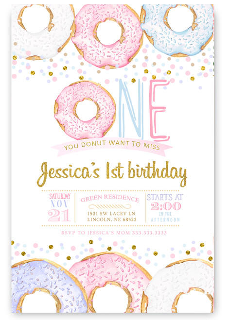 donut birthday invitation,donut party, donuts, you donut want to miss this , stacked donuts, birthday donuts, cute donuts, donut girl birthday, cute, ice cream, birthday, girl birthday invitation,
