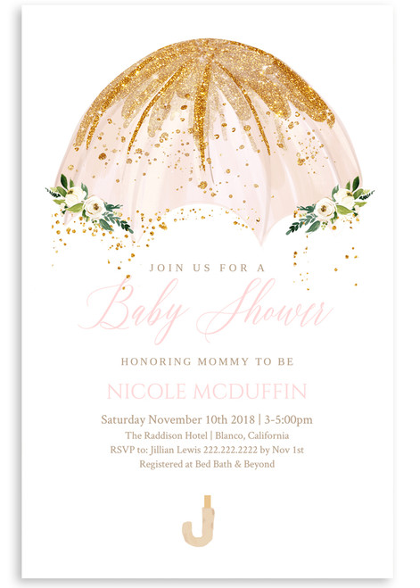 Snowflake Baby Shower Invitation Holiday Baby Shower 8