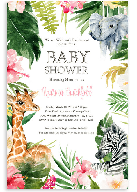 Zoo baby shower invitation,zoo baby shower, zoo animals,animals, elephant, giraffe, jungle theme,baby shower, baby boy, baby shower invitation, cheap baby shower invitation, its a girl, cute baby shower invitation, girl baby shower invitation,