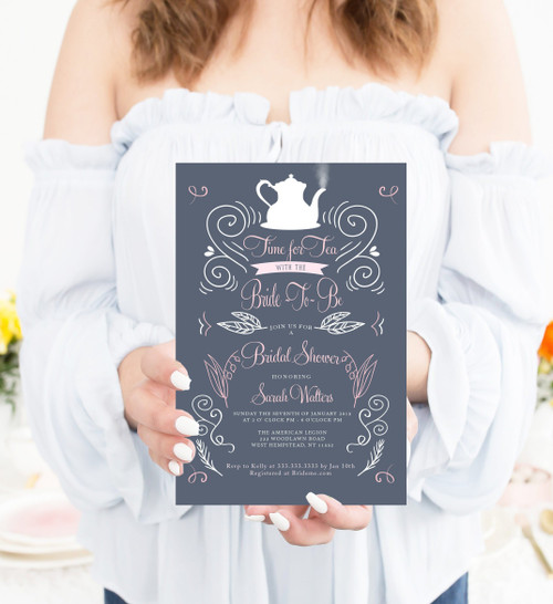Tea bridal shower, tea party bridal shower, tea party invitation, tea invitation, bridal tea party, bridal tea
