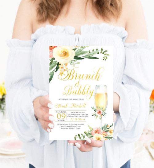 bridal brunch and bubbly invitation,brunch & bubbly bridal shower invitations,Brunch and bubbly, bridal shower invitation, brunch, bubbly, bridal invitation, shower invitation, brunch,