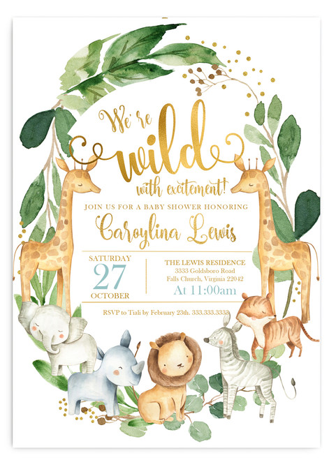 jungle baby shower, wild baby shower,zoo baby shower,giraffe baby shower,jungle shower,baby shower,invitation,elephant baby shower,safari baby shower,safari animals,jungle animals, gender neutral,animal shower,jungle baby shower invitation, zoo animal, giraffe, elephant, zebra