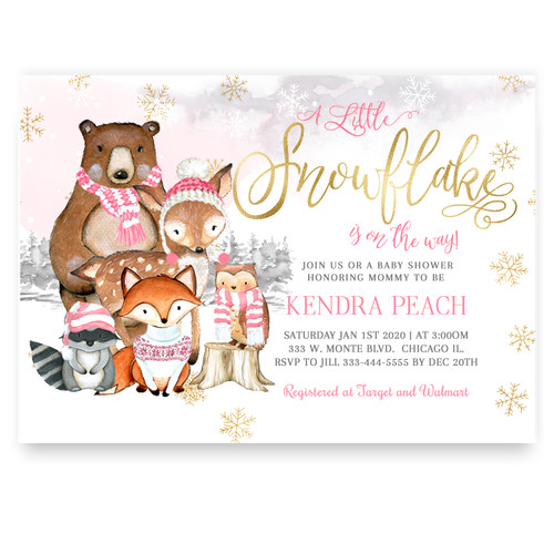 Woodland baby shower invite, woodland holiday baby shower, woodland baby shower invite, inter baby shower,winter baby shower,baby shower invite,baby invitation,christmas shower,christmas baby,snow baby shower,baby winter, holiday baby invite