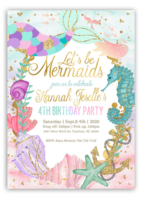 mermaid birthday invitation, mermaid party invitation, girl mermaid invite, glitter mermaid invite, mermaid bash invitation, pink mermaid tail, mermaid tail birthday , mermaid invitation, girl mermaid, birthday invitation, pink birthday mermaid