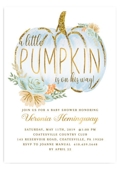 Pumpkin baby shower invitation, fall baby shower invitation, blue pumpkin baby shower, pumpkin on the way, baby shower invitation, boy baby shower invitation, fall baby shower, fall invitation, vintage baby shower invitation, autumn baby shower, cheap baby shower invitation, white pumpkin baby shower, little pumpkin baby shower invitation, fall baby shower invite, flower baby shower invitation, watercolor baby shower invitation