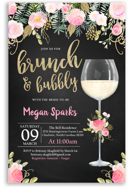 floral brunch and bubbly invitation,chalkboard flowers, glitter champagne glass, brunch and flowers,boho bridal shower, floral, cheap bridal shower invitation, modern bridal shower, cute bridal shower invitation, retro bridal shower invitation, elegant, affordable bridal shower invitation,wedding invitation,occasion, cute,bachelorette party, bride, whimsical,printed, dream paperie, formal invitations, dinner invitation,custom invitation, card stock, samples, wed, bridal shower thank you cards