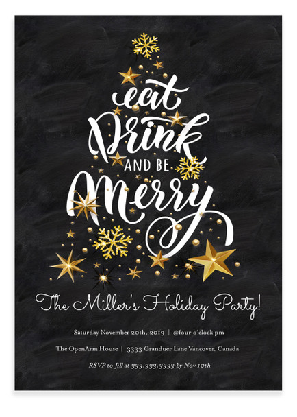 Christmas party invitation, Merry little christmas party 1