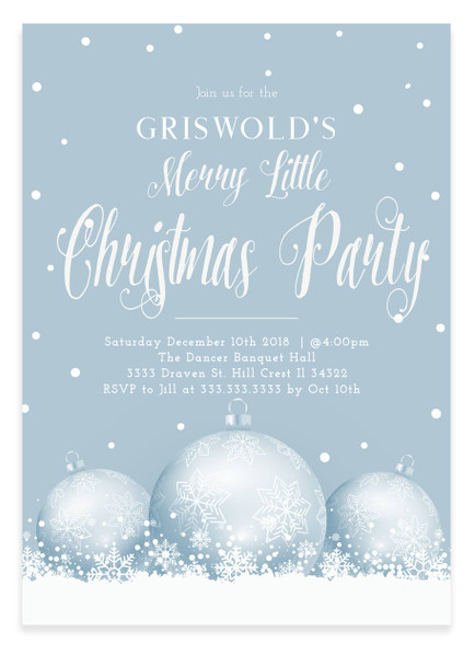 Merry Little Christmas.Christmas Party Invitation Merry Little Christmas Party 2