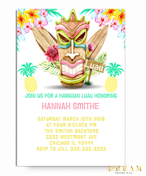 Luau Birthday Invitation Luau Invitation Design 1