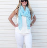 BELLA ZEBRA PRINT SCARF-LIGHT BLUE