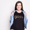 BLESS-TEE-BLACK WITH LEOPARD-FRONT