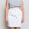 ARCHER DENIM SKIRT - WHITE