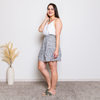 ABBEY FLORAL SKIRT-SAGE