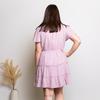 SIMONE RUFFLE DRESS - DUSTY PINK