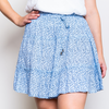 JOSIE RUFFLE SKIRT-BLUE