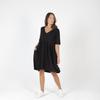 PORTSEA DRESS - BLACK