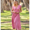 TAOS MIDI DRESS -WILD ROSE