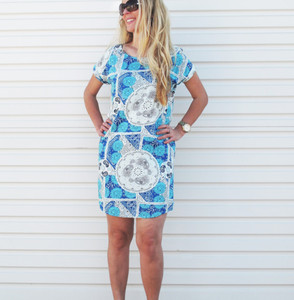 BELLA BLUE LOVE SHIFT DRESS