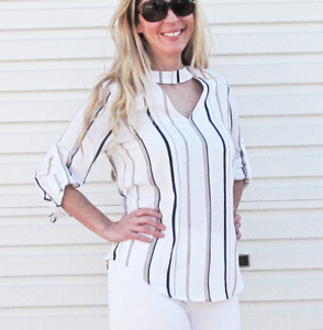 STRIPE LOVE BLOUSE