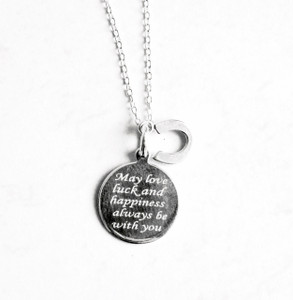 LOVE LUCK HAPPINESS NECKLACE - SILVER