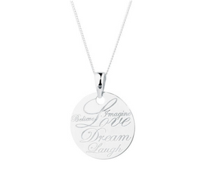 BELIEVE LOVE DREAM NECKLACE -SILVER