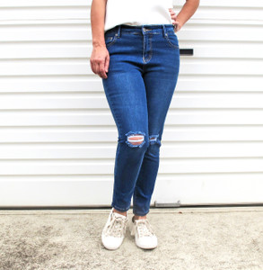 SKYLER_HIGH_WAIST_ 7/8_RIPPED_JEANS _BLUE